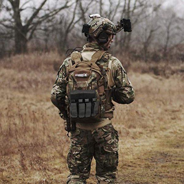 ProCase Pistol Case 7 ProCase Tactical Gun Range Bag Pistol Shooting Duffle Bag Bundle with Tactical Pistol Mag Pouch -Black