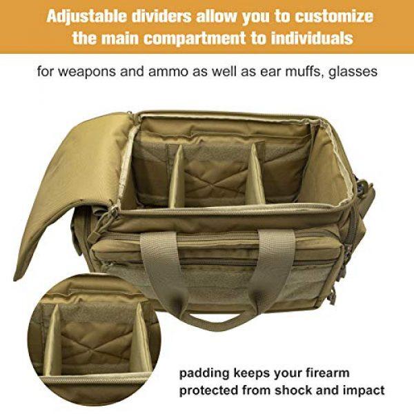 Kosse Pistol Case 5 Kosse Tactical Gun Range Bag Pistol Shooting Duffle Bag, Deluxe Padded Shooting Range Bag Large Handguns Magazine Ammo Gear Accessories Pouch for Hunting Shooting Range Sport