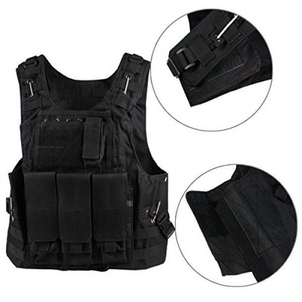 Andux Airsoft Tactical Vest 3 Andux Land Airsoft Assault Vest Paintball Combat Vest Tan Adult ZSBS-01