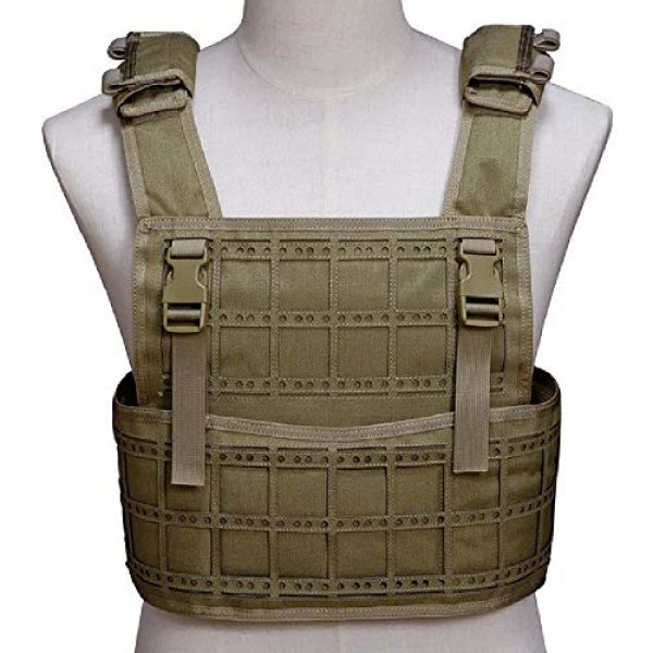 BGJ Airsoft Tactical Vest 1 BGJ Airsoft Vest Tactical Vest Hunting Protection Military Molle Vest Adjustable Army Armor