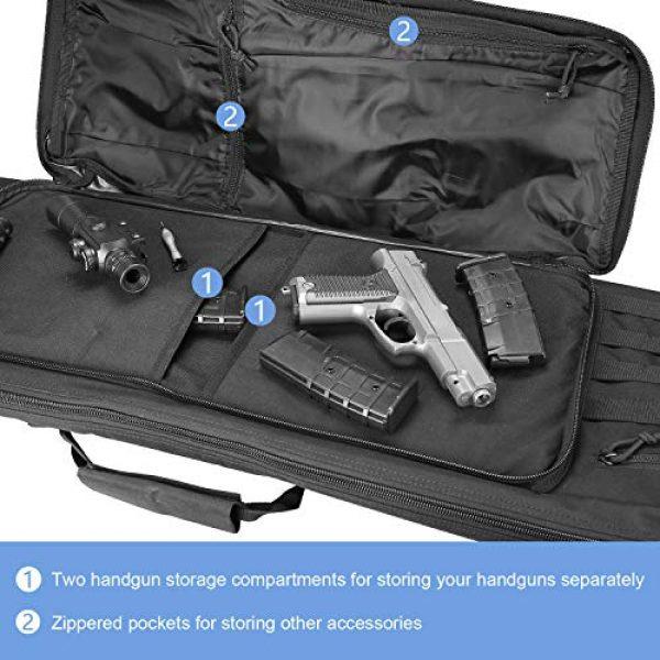 ProCase Rifle Case 3 ProCase Double Rifle Bag, Tactical Long Rifle Pistol Gun Firearm Transportation Carbine Case w/Backpack, MOLLE, Lockable Compartments