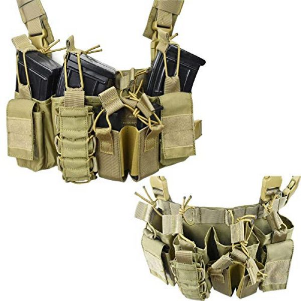 Jadedragon Airsoft Tactical Vest 5 Jadedragon Tactical CS Field Vest Adjustable Ultra-Light Breathable Chest Rig Outdoor Training Vest