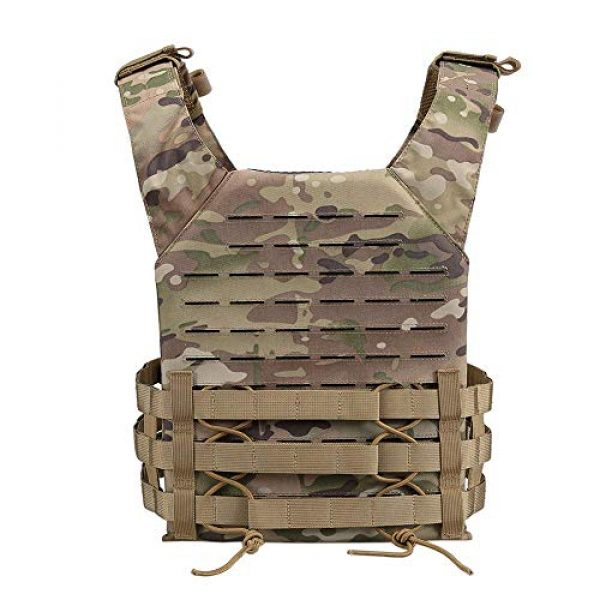 OneTigris Airsoft Tactical Vest 3 OneTigris Multicam Laser-Cut Modular Vest & Chest Rig for Men
