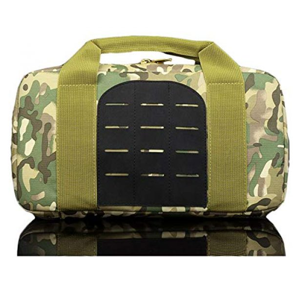 JFFCE Pistol Case 1 JFFCE Tactical Molle Pistol Storage case for Single Pistol and Mag with Heavy Duty Double Zippers