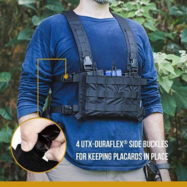 OneTigris Airsoft Tactical Vest 4 OneTigris Tactical Panel Placard Adapter & Tactical Placard 03 (Black)