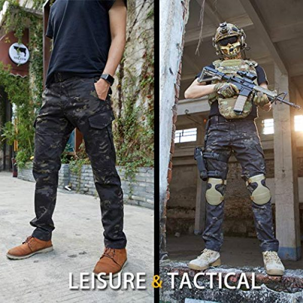 IDOGEAR Tactical Pant 6 GL Tactical Pants Multicam Combat Pants for Airsoft Military Hunting Paintball Outdoor Sports Slim Fit Style