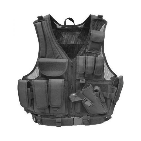 AirSplat Airsoft Tactical Vest 1 Tactical Airsoft Vest w/Pistol Holster