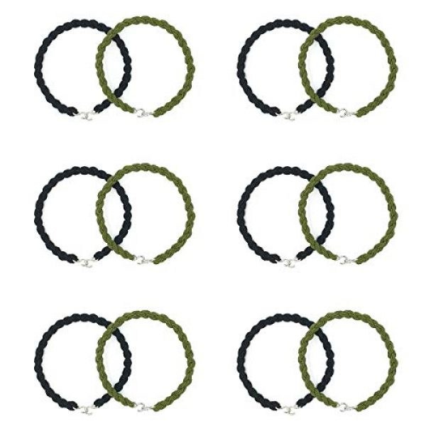 HDCBMCDDM-US Combat Boot Blouser 1 12 Pieces Elastic Boot Bands Military Boot Straps with Metal Hooks for Navy Army Air Force, Black& Green