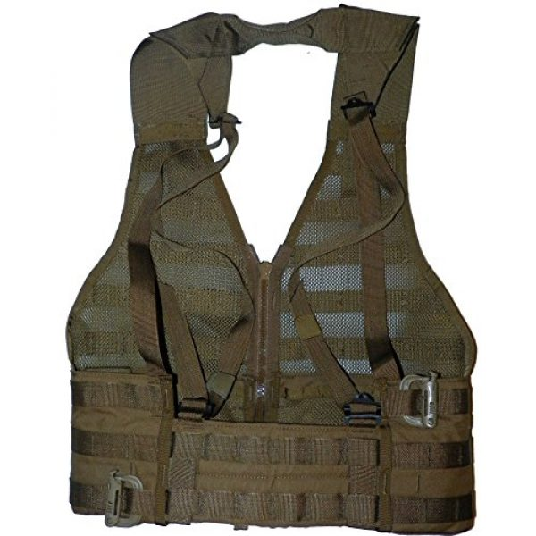 U.S.G.I. Airsoft Tactical Vest 4 2 X USMC Tactical FLC Vest, Fighting Load Carrier w/ Zipper, Coyote Brown, MOLLE II