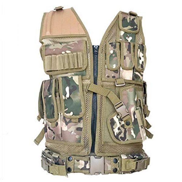 BGJ Airsoft Tactical Vest 4 BGJ Tactical Vest Military Combat Armor Vests Mens Tactical Hunting Vest Army Adjustable Armor Outdoor CS Training Vest Airsoft