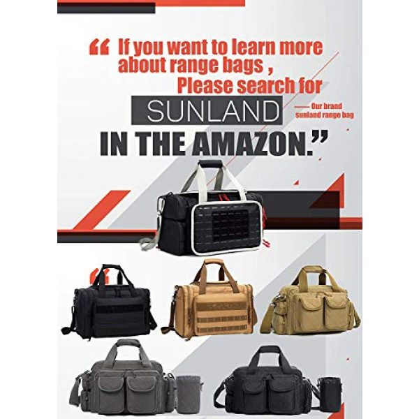 AUMTISC Pistol Case 7 AUMTISC Pistol Range Bag Tactical Shooting Gun Range Bag with Penty of Room for Handguns Lightweight Durable