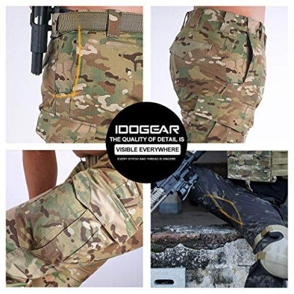 IDOGEAR Tactical Pant 4 GL Tactical Pants Multicam Combat Pants for Airsoft Military Hunting Paintball Outdoor Sports Slim Fit Style