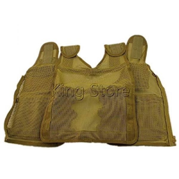 BGJ Airsoft Tactical Vest 5 Tactical Small Fishing Vest Summer Hunting Mens Multi-Pockets Airsoft Vest Black Color Outdoor Sport Military Equipment