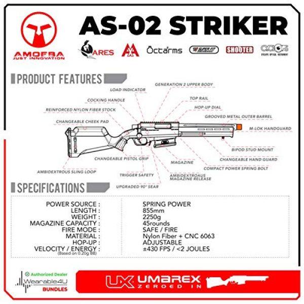Wearable4U Airsoft Rifle 4 Umarex Amoeba Airsoft Rifle Gun Striker As-02 6mm BB (Gen2) with Wearable4U Bundle