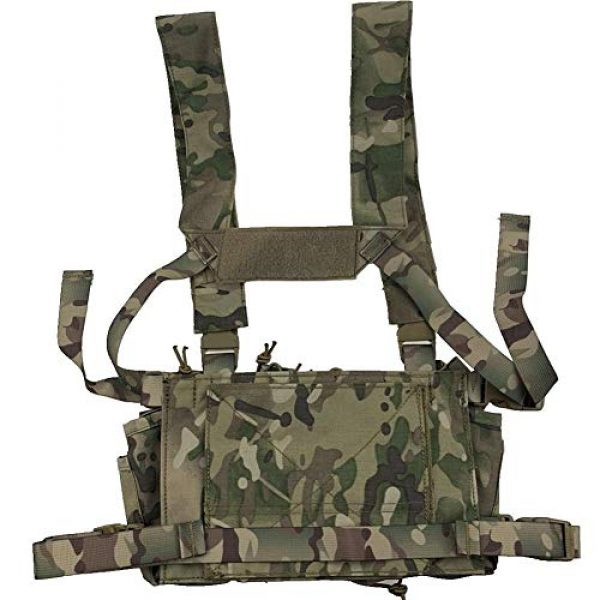Shefure Airsoft Tactical Vest 5 Shefure Outdoor Hunting Vest Tactical MOLLE Triple Open-Top Mag Pouch Fast AK AR M4 FAMAS Mag Pouch with Shaped Suspender Shoulder Strap