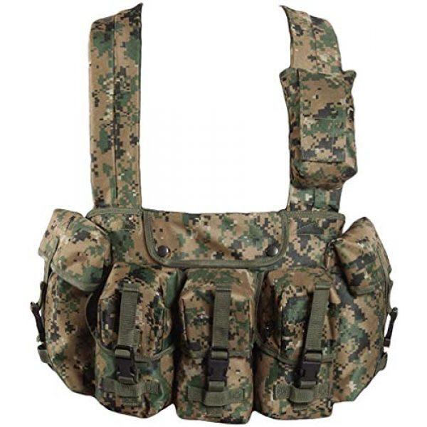 Mil-Tec Airsoft Tactical Vest 1 Mil-Tec 6 Pocket Chest Rig