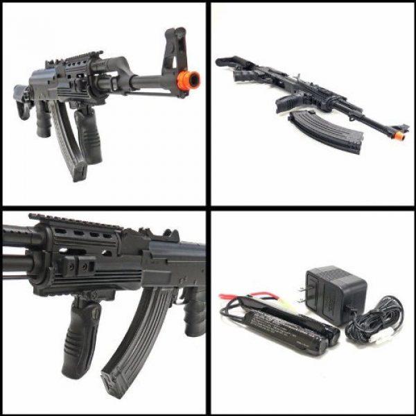 SRC Airsoft Rifle 3 src ak47 tac gen ii air soft rifle electric full auto aeg airsoft gun black(Airsoft Gun)