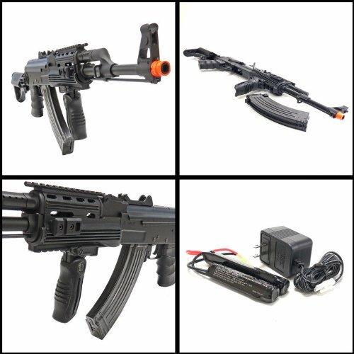 SRC  3 src ak47 tac gen ii air soft rifle electric full auto aeg airsoft gun black(Airsoft Gun)
