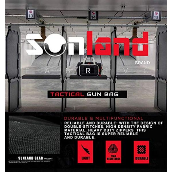 AUMTISC Pistol Case 6 AUMTISC Pistol Range Bag Tactical Shooting Gun Range Bag with Penty of Room for Handguns Lightweight Durable