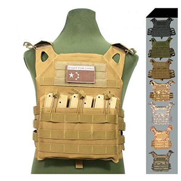 HWZ Airsoft Tactical Vest 3 HWZ Tactical Vest Combat Vest Outdoor Multi-Function CS Field EVA Thick Guard Vest