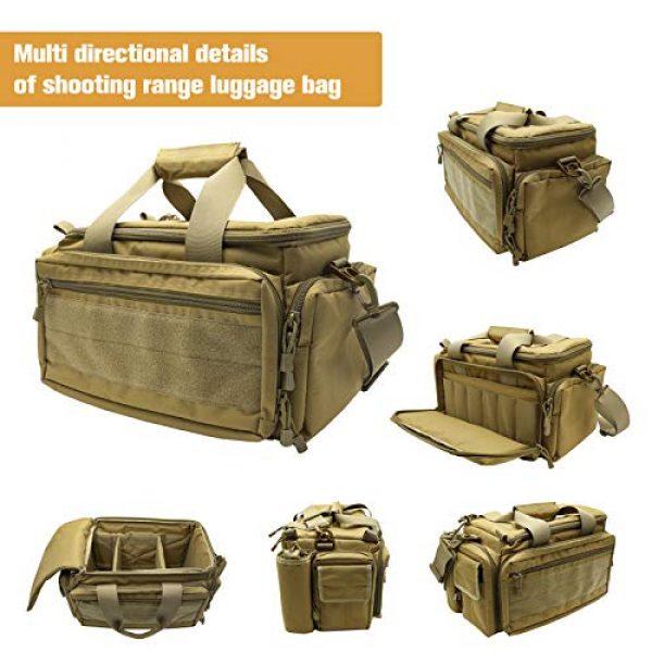 Kosse Pistol Case 4 Kosse Tactical Gun Range Bag Pistol Shooting Duffle Bag, Deluxe Padded Shooting Range Bag Large Handguns Magazine Ammo Gear Accessories Pouch for Hunting Shooting Range Sport