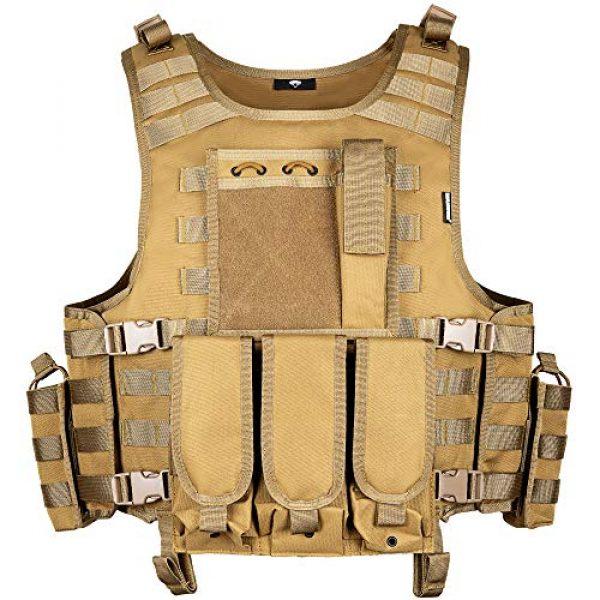 MGFLASHFORCE Airsoft Tactical Vest 1 MGFLASHFORCE Tactical Airsoft Vest Adjustable Modular Paintball Vest