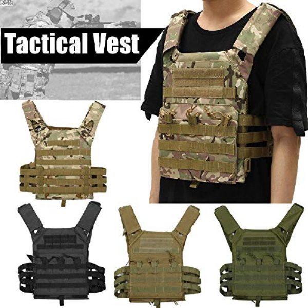 BGJ Airsoft Tactical Vest 5 Hunting Tactical Body Armor JPC Molle Plate Carrier Vest Outdoor CS Game Paintball Airsoft Vest Military Equipment