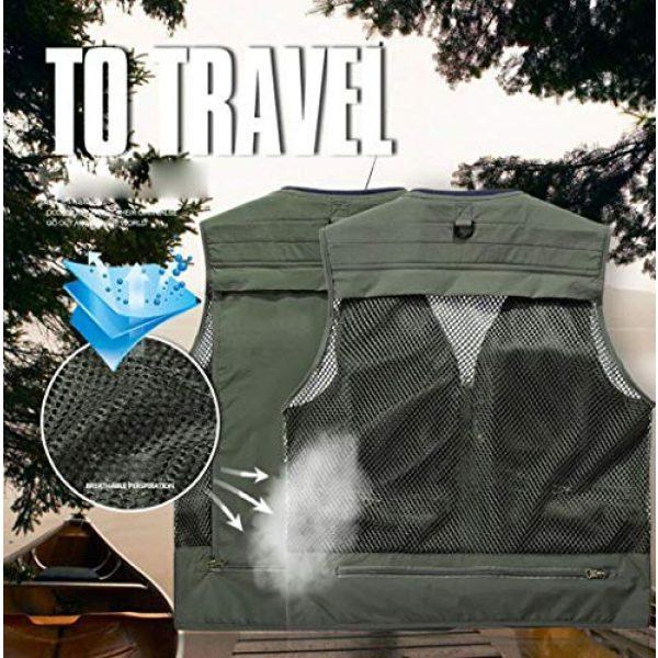 DAFREW Airsoft Tactical Vest 6 DAFREW Quick-Drying Vest Men's Summer Leisure Vest Outdoor Photography Vest Thin Section Sleeveless Shirt Fishing Vest (Color : Khaki, Size : L)