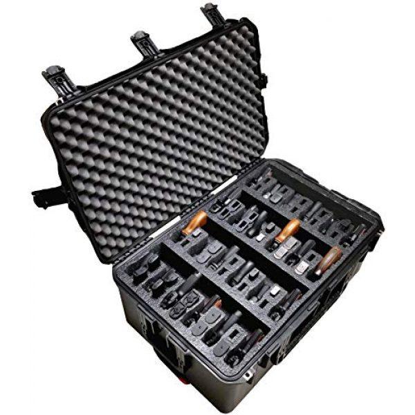 Case Club Pistol Case 1 Case Club 24 Pistol Pre-Cut Waterproof Case with x2 Silica Gel to Help Prevent Gun Rust