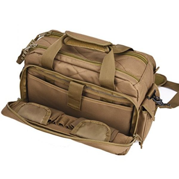 REEBOW TACTICAL Pistol Case 4 REEBOW TACTICAL Tactical Gun Range Bag, Deluxe Pistol Shooting Range Duffle Bags