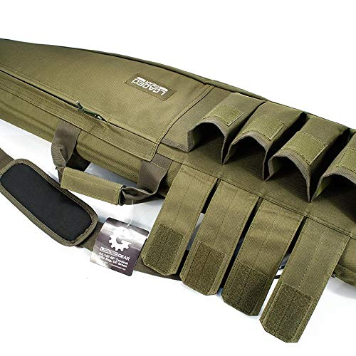 "Loaded Gear Rifle Case 4 Loaded Gear 48"" Tactical Rifle Soft Rifle Gun Bag Case, Brown (Green)"
