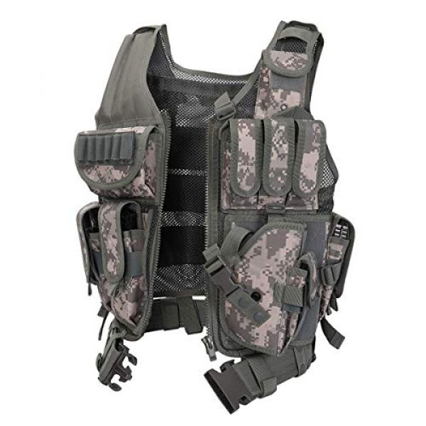 GXYWAN Airsoft Tactical Vest 3 GXYWAN Tactical CS Field Vest Paintball Training Airsoft Ultra-Light Breathable Combat Adjustable Vest