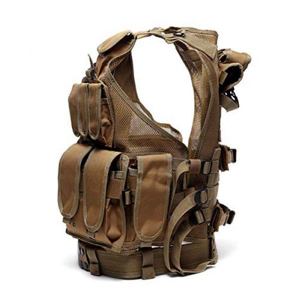 MR.CHAOS Airsoft Tactical Vest 3 MR.CHAOS Tactical Vest Combat Training Vest Adjustable Outdoor Breathable Mesh Fabric CS Combat Equipment