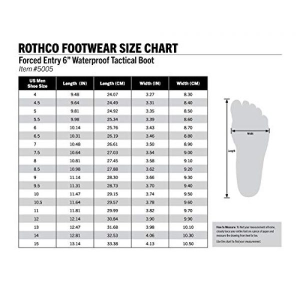 Rothco Combat Boot 5 Forced Entry Tactical Waterproof Boot