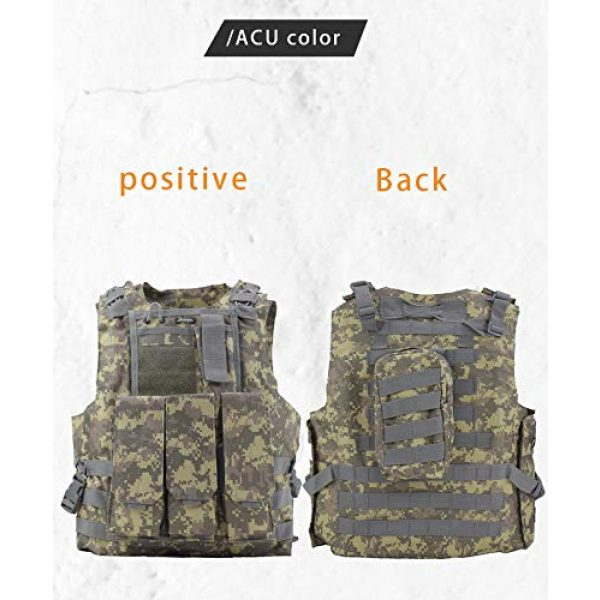 BGJ Airsoft Tactical Vest 2 Military Gear Army Paintball Combat Protective Vest Outdoor Camouflage Tactical Vest for Hunting Airsoft CS Wargame Body Armor