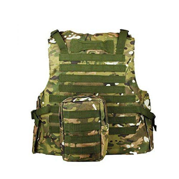 BGJ Airsoft Tactical Vest 6 BGJ Military Tactical Vest Equipment Molle Assault Carrier Airsoft Vest Outdoor Shooting CS Hunting Combat Camouflage Vest Gear