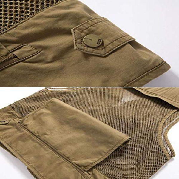 DAFREW Airsoft Tactical Vest 7 DAFREW Multi-Pocket Vests Vests Men's Casual Fishing Photography Vests mesh Breathable Vest (Color : Army Green, Size : L)