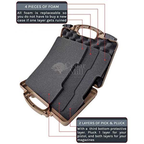 Cedar Mill Fine Firearms Pistol Case 6 Glock Compatible Go-Pack | Custom case with EVA display foam to protect your G17 9mm Gen1,2,3,4,5 G22 .40 Gen1,2,3,4,5 G19 19 9mm Gen1,2,3,4,5 G23 .40 Gen1,2,3,4,5 G26 9mm Gen1,2,3,4,5 G27 .40 Gen1,2
