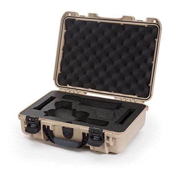 Nanuk Pistol Case 1 Nanuk 910 2UP Waterproof Hard Case w/Custom Foam Insert for Glock Pistols - Tan