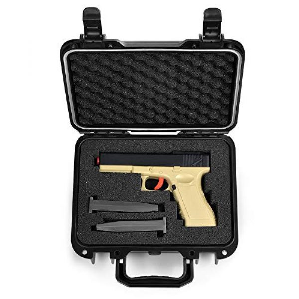 Lekufee Pistol Case 1 Lekufee Portable Waterproof Hard Pistol Case for Handguns and Accessories