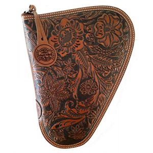 TLT Pistol Case 1 TLT Floral Genuine Leather Nocona Gun Case. - Small