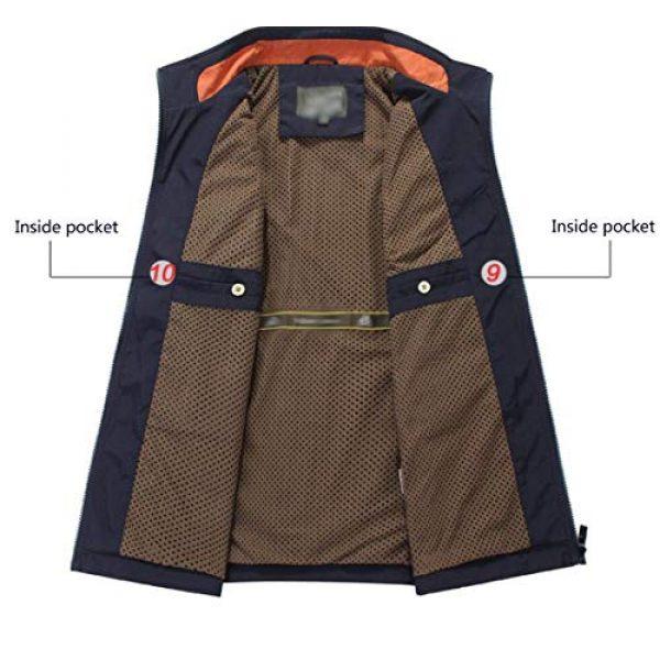 DAFREW Airsoft Tactical Vest 4 DAFREW Men's Casual Vest Multi-Pocket Vest Outdoor Fishing Photography Vest Grid Vest (Color : Royal Blue, Size : M)