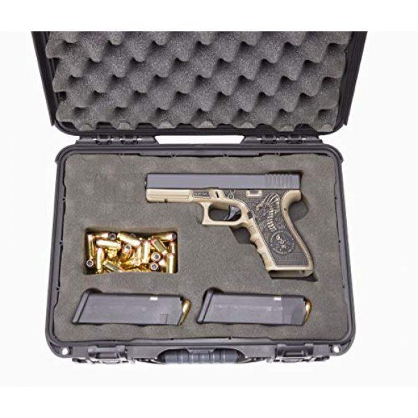 Levy's Outdoor Pistol Case 2 Levy's Outdoor Universal Waterproof and Dustproof Single Pistol Hard Case; Adjustable Foam Interior (GU-1309-03-UNV-GUN)