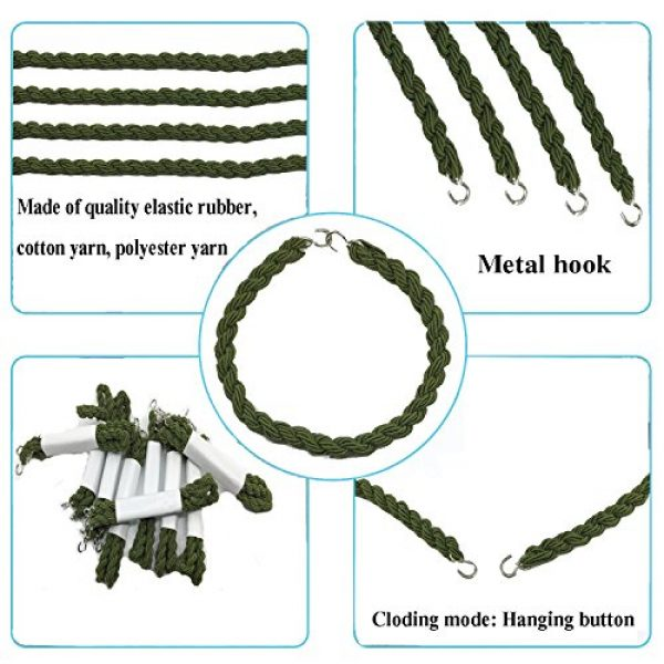 JAMEGIO Combat Boot Blouser 3 Janegio 24 Pieces Elastic Boot Bands Military Boot Straps Blousing with Metal Hooks