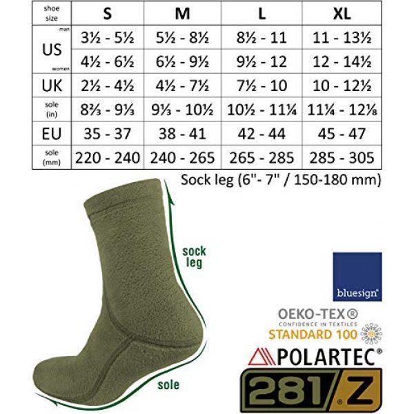 281Z Combat Boot Sock Liner 7 Military Warm 6 inch Liners Boot Socks - Outdoor Tactical Hiking Sport - Polartec Fleece Winter Socks (Green Khaki)