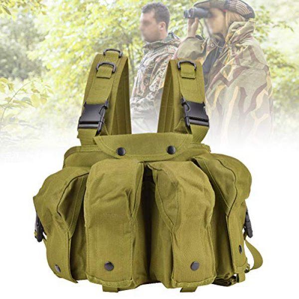 Yosoo Airsoft Tactical Vest 5 Yosoo Tactics Training Bag,Nylon Outdoor Tactics Vest Military Fan Camouflage Waistcoat Training Bag Equipment