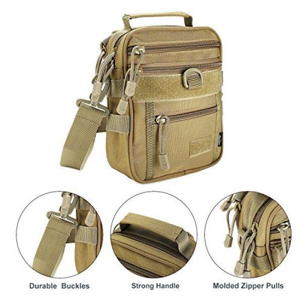 ProCase Pistol Case 3 ProCase Pistol Bag, Military Gear Tactical Handgun Shoulder Strap Bag Gun Ammo Accessories Pouch Shooting Range Duffle Bag for Shooting Range Sport -Khaki