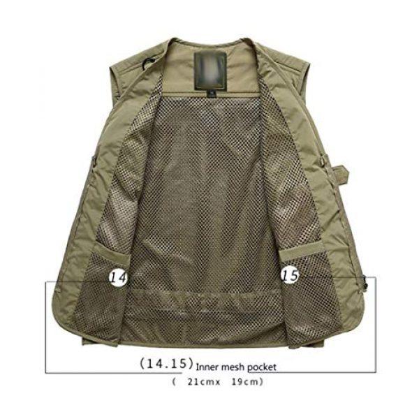 DAFREW Airsoft Tactical Vest 3 DAFREW Summer Vest Men's Quick-Drying Vest Outdoor Leisure Vest Multi-Pocket Detachable Vest (Color : Dark Blue, Size : M)