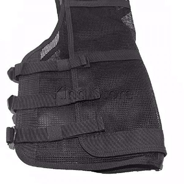BGJ Airsoft Tactical Vest 2 Tactical Small Fishing Vest Summer Hunting Mens Multi-Pockets Airsoft Vest Black Color Outdoor Sport Military Equipment