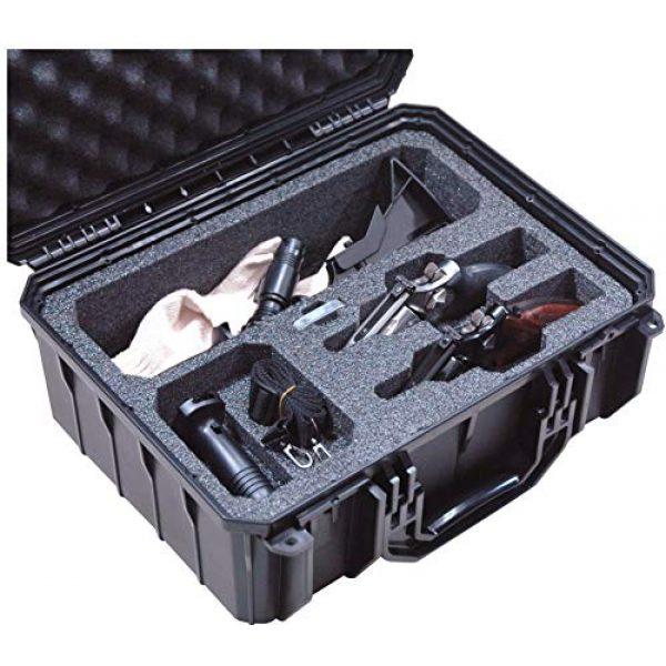 Case Club Pistol Case 1 Case Club Waterproof 2 Revolver/Semi-Auto Case with Accessory Pocket & Silica Gel